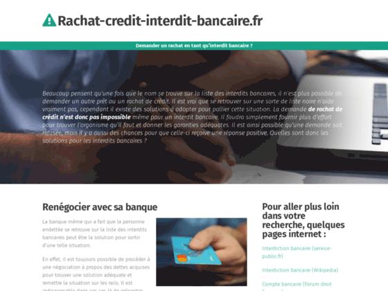 Rachat credit interdit bancaire