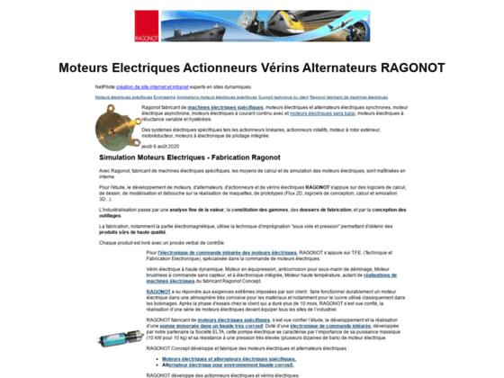 Moteurs électriques vérins actionneurs Ragonot
