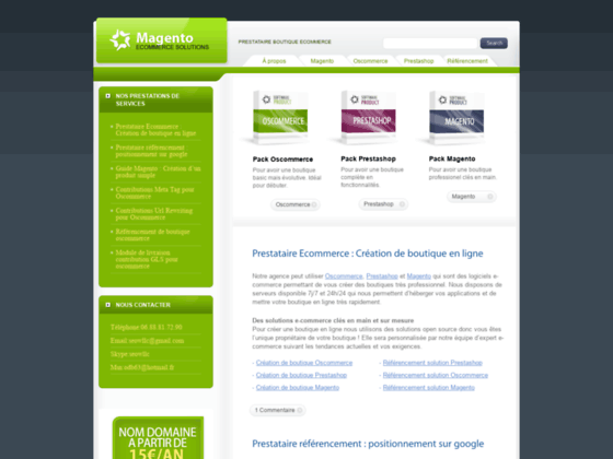 Referencement site e-commerce création et référencement boutique oscommerce