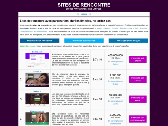 Top liste des sites de rencontre