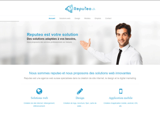 Reputeo, Création de site internet, logo, boutique, application mobile