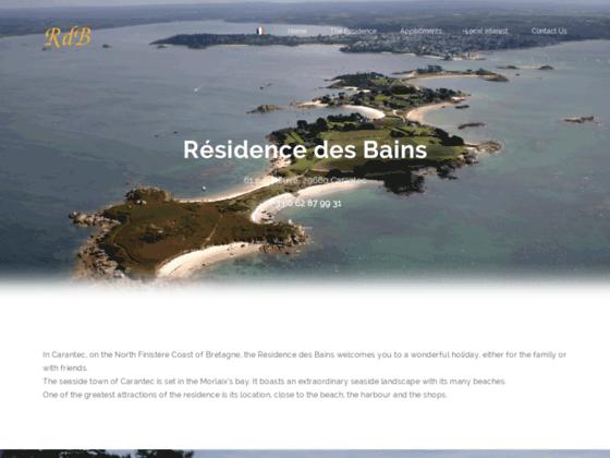 La Residence des Bains a Carantec propose des appartements en location, vacances, loisirs, mer