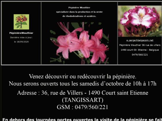 pépinière wauthier specialisee dans la production et la vente de rhododendrons et azalées