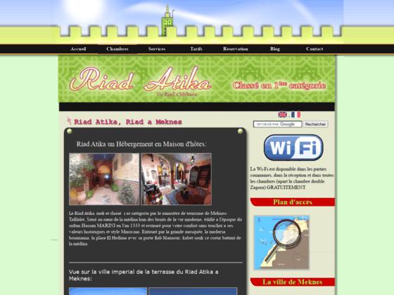 Riad Atika chambre d'hotes a Meknes