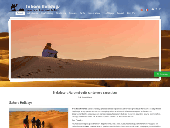 Sahara Excursion Trekking desert Maroc