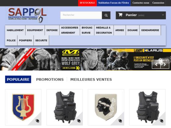 SAPPOL.COM BOUTIQUE POLICE EQUIPEMENT POLICE BOUTIQUE GENDARMERIE