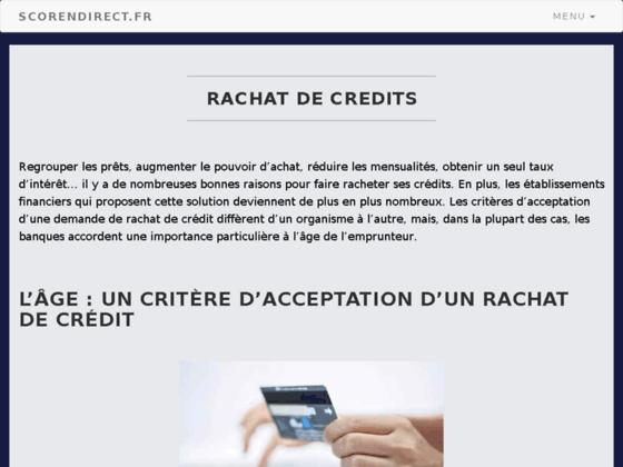 Score des matchs en direct avec scorendirect.fr