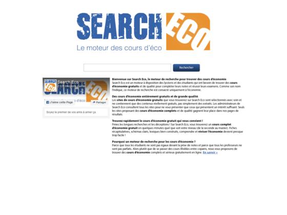 Search Eco : cours d'économie gratuits en ligne