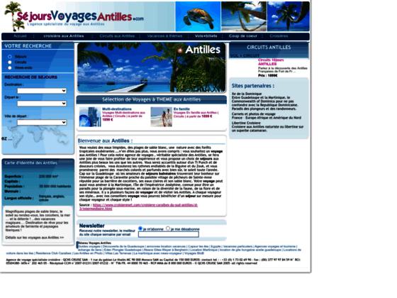 Voyages et sejours aux Antilles