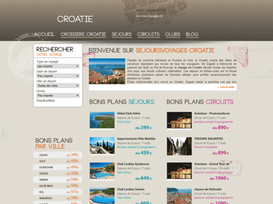 Voyages en Croatie