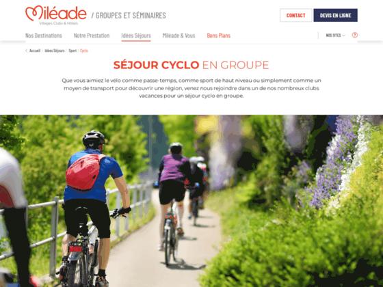 Sejourvelo.com - Randonnées Cyclotourisme