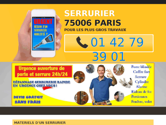 Serrurier 75006