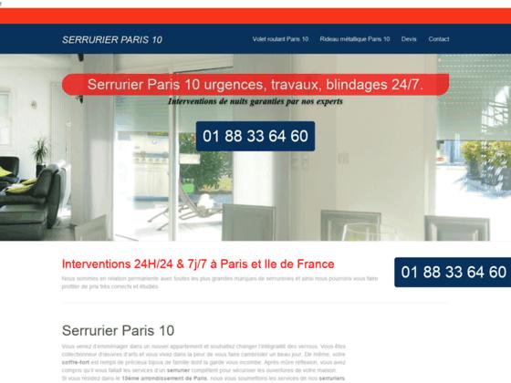 Serrurier Paris 10