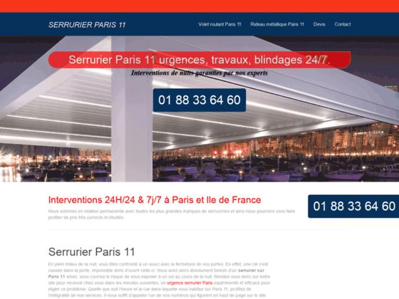 Ouverture de porte Paris 11