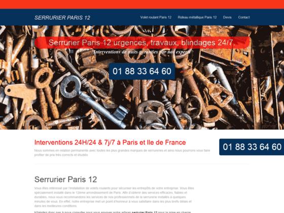 Serrurier Paris 12