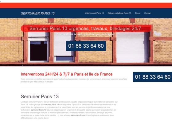 Ouverture de porte Paris 13