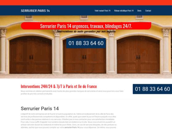 Serrurier Paris 14