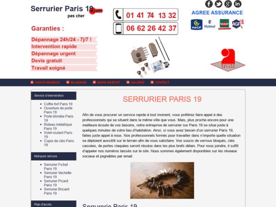 Ouverture de porte Paris 19