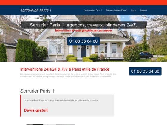 ouverture de porte Paris 1