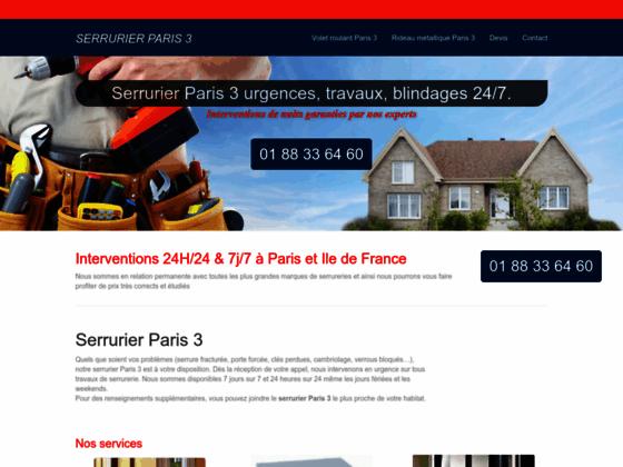 Ouverture de porte Paris 3