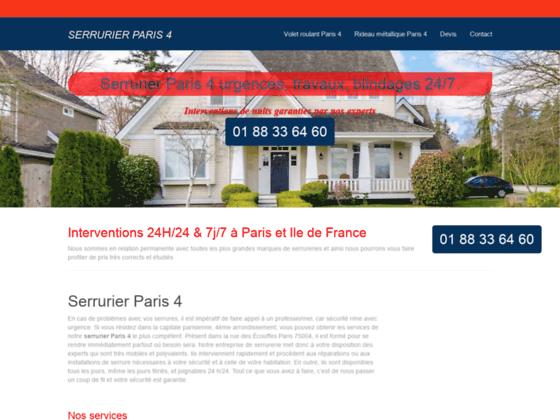Ouverture de porte Paris 4