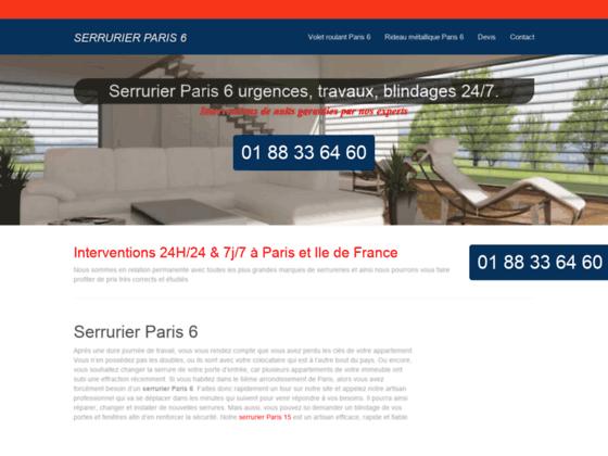 Ouverture de porte Paris 6