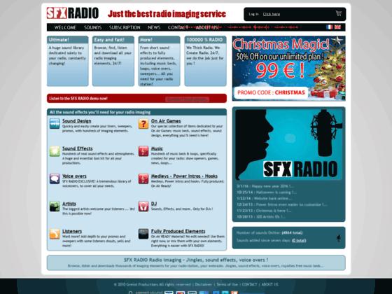 Musique libre de droit, jingles sur sfxradio.com