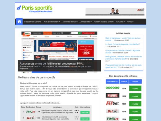 Sites paris sportifs en France