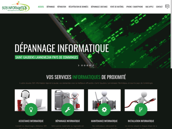 screenshot du site