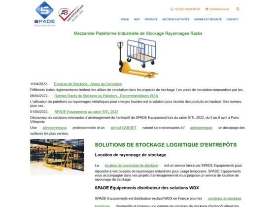 Solutions Stockage Industriel - SPADE Equipements