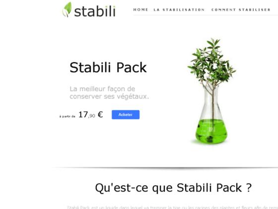 Stabilisation végétale liquide stabilisant