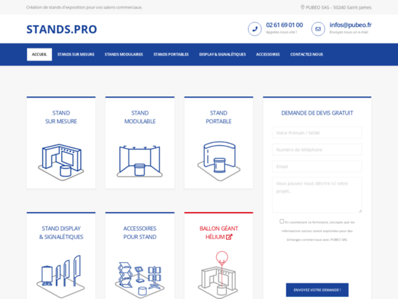 Stands.pro : amenagement professionnel de stands