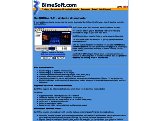 Downloading complete website