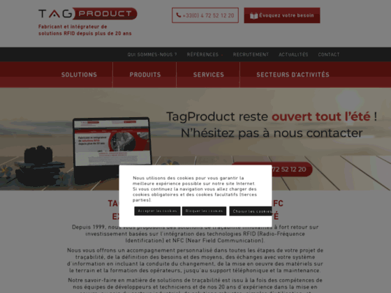 TagProduct Gestion Flux Marchandises RFID