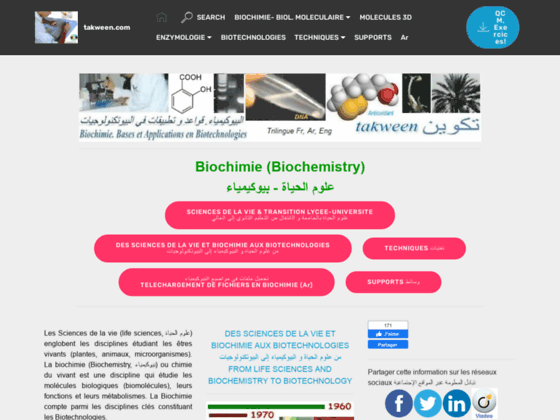 biochimie et applications en biotechnologies