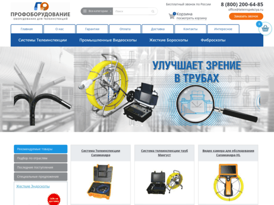 Скриншот сайта teleinspekciya.ru