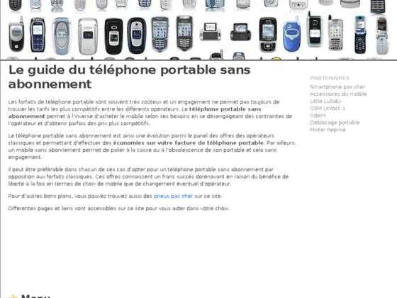 T�l�phone portable sans abonnement