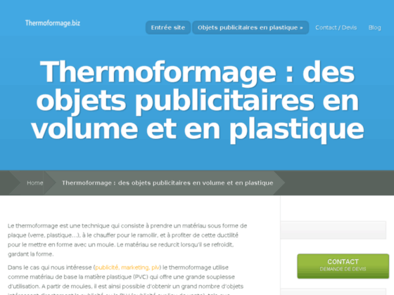 Thermoformage et Plv
