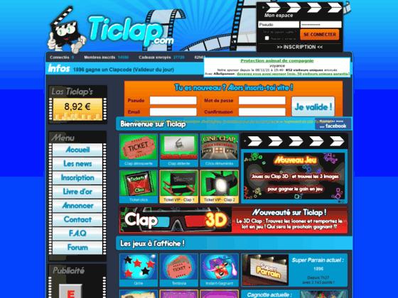 TiClap : jeux gratuits pour gagner des cadeaux