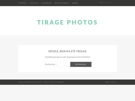 Tirage photos