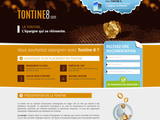 Tontine épargne et placement financier