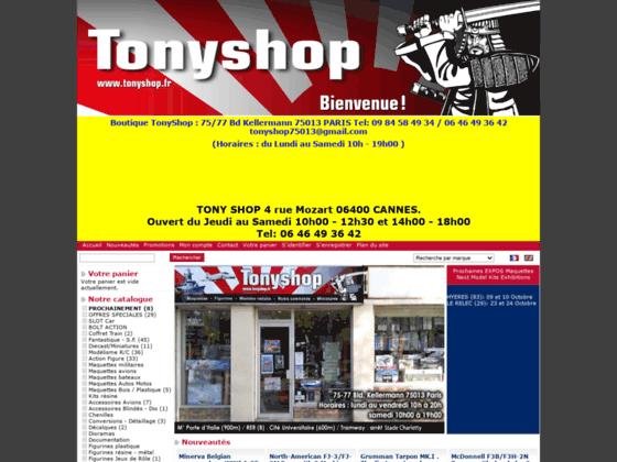 Maquette TonyShop, Boutique en ligne de maquettes