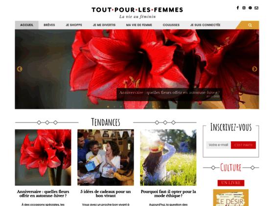 Tout Pour Les Femmes Site Internet Portail Féminin
