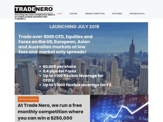 Скриншот сайта www.tradenero.com