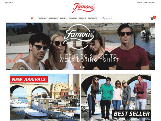 FAMOUS : vente de T-shirts, sweat-shirts, grossiste tee shirts blanc sans marquage
