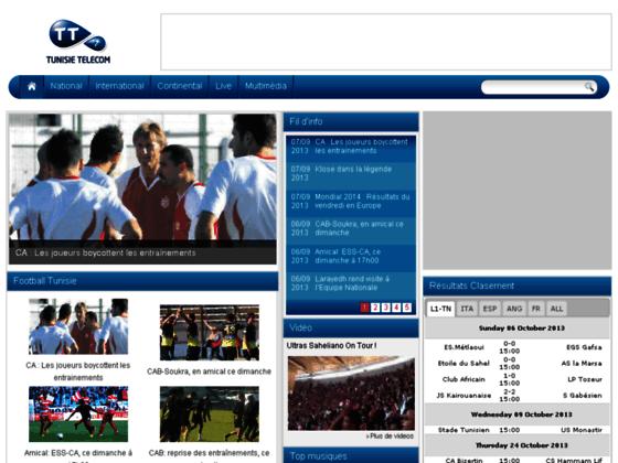 TTFoot: Le portail de football de Tunisie Telecom
