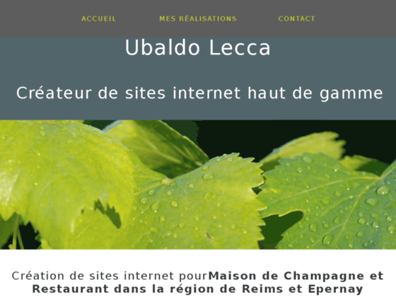 ubaldolecca.com création et conception de site internet en Flash à Reims(Marne)