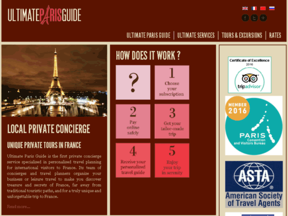 Ultimate Paris Guide organises your travel from A to Z.