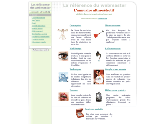 Annuaire Cr�ation Webmaster