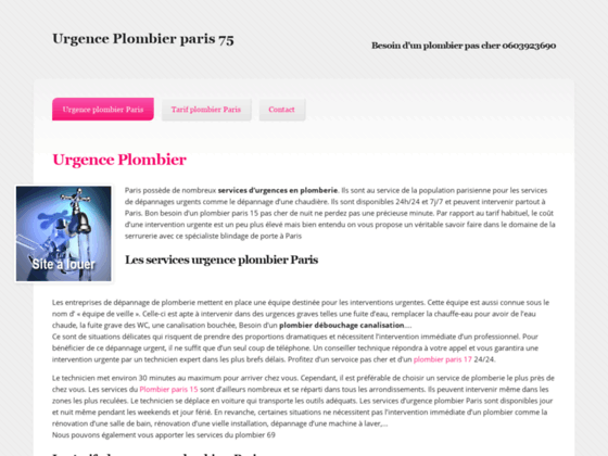 Plombier Paris 75: Intervention d'urgence plomberie